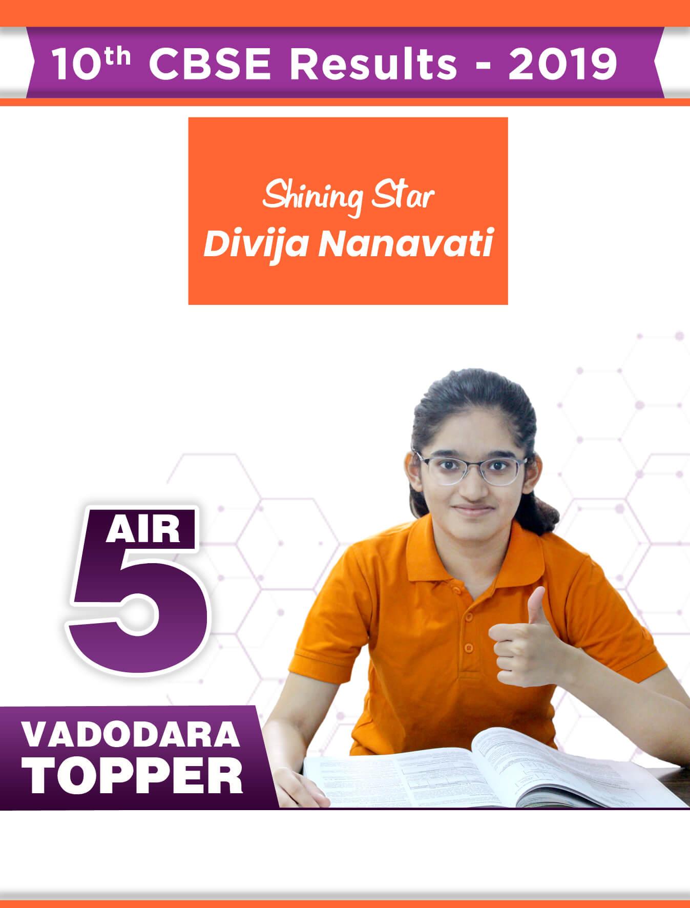 1st Rank in Vadodara 2019
